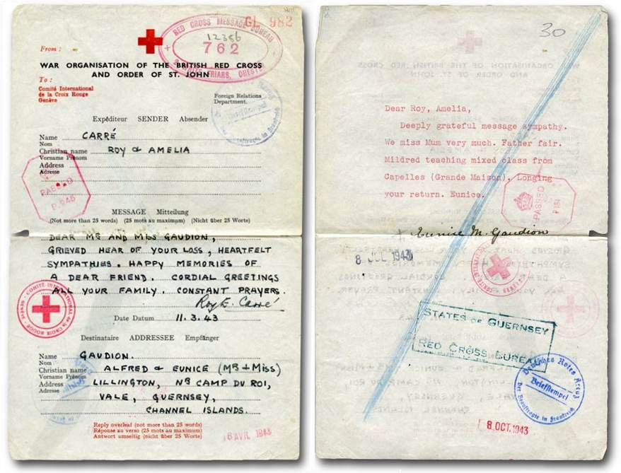 The Channel Islands at war: — the Red Cross Message Scheme