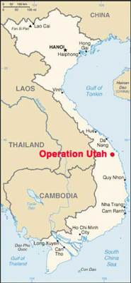 Quang Ngai Vietnam Map.Operation Utah
